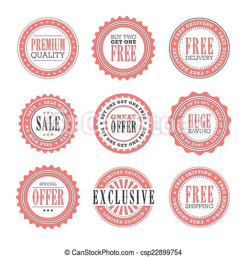 postzegels, detailhandel, kentekens - csp22899754