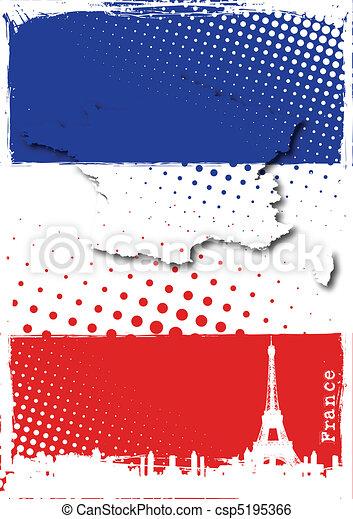poszter, franciaország - csp5195366
