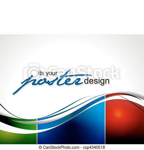 poszter, tervezés - csp4340518