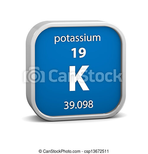 potássio, material, sinal - csp13672511