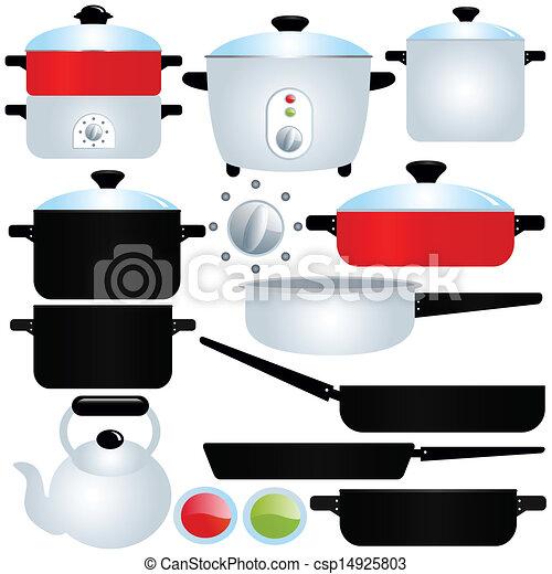 Pot and Pan, Cooking Utensils  - csp14925803