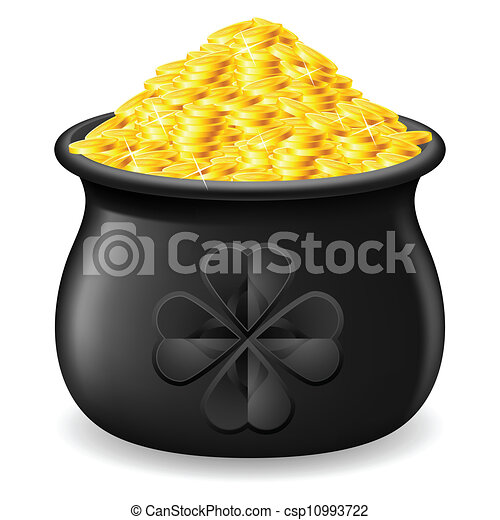 Pot full of gold coin - csp10993722