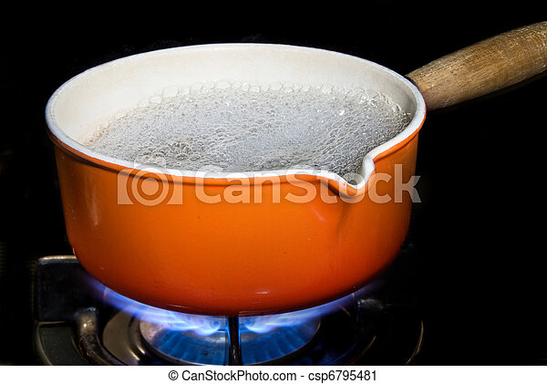 Pot of boiling water - csp6795481