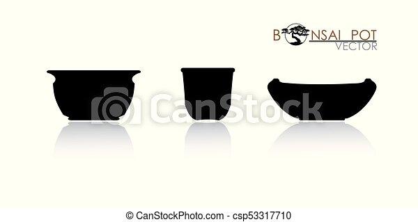 pot of Bonsai tree. - csp53317710