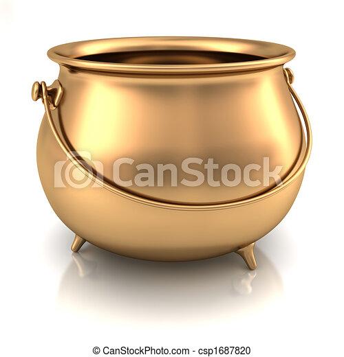 Pot of gold Pot of gold empty