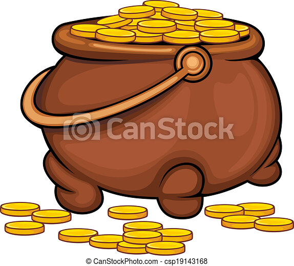pot with gold coins as a treasure concept vector clip art vector rh canstockphoto com clipart construction clipart construction