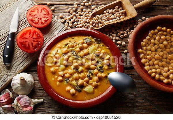 Potaje de Garbanzos chickpea stew Spain - csp40081526