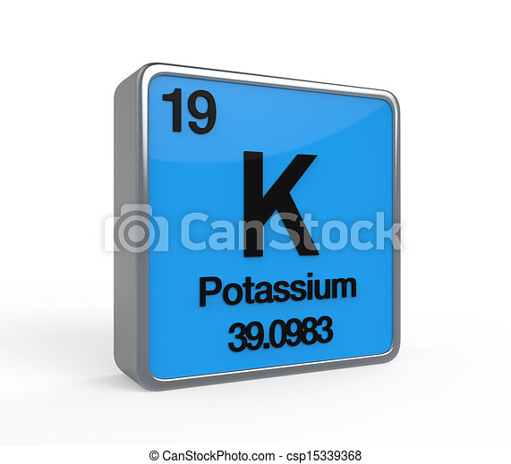 Potassium element periodic table isolated on white stock potassium element periodic table csp15339368 urtaz Images