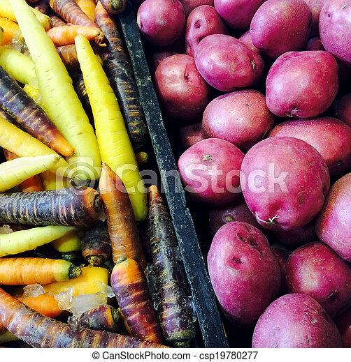 potatisarna, moroten, röd, färgrik - csp19780277