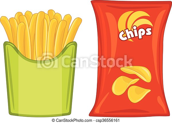 potato chips and french fries vector illustration clip art vector rh canstockphoto com potato chip clip art free sweet potato chips clipart