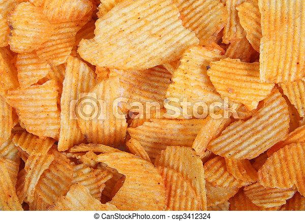potato chips background - csp3412324