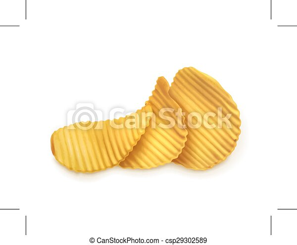 Potato chips illustration  - csp29302589