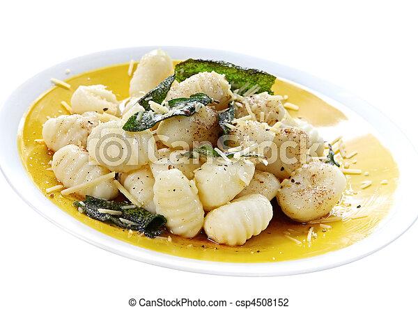 Potato Gnocchi with Sage Butter - csp4508152