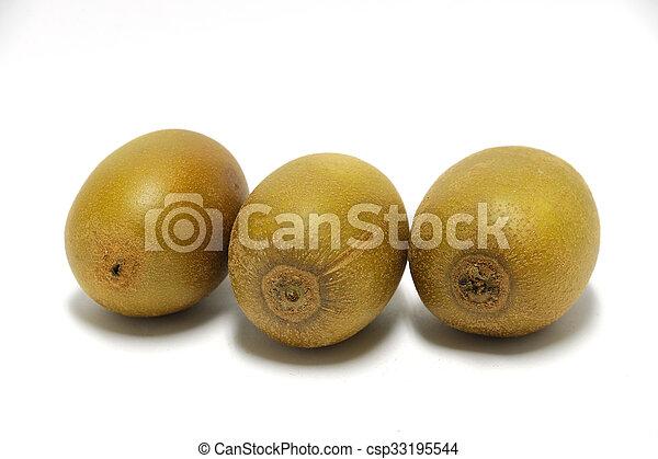 potato on white background - csp33195544
