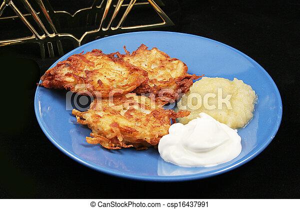 Potato Pancakes - Latkes For Hanukkah - csp16437991