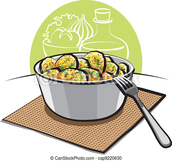 Potato salad with parsley and dill - csp9220630