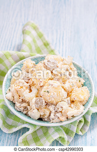 Potato salad with sour cream - csp42990303