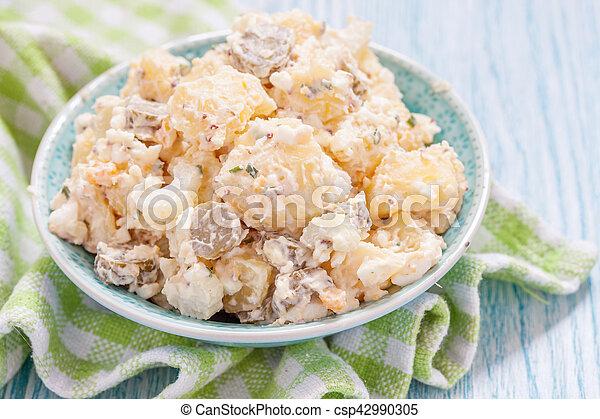 Potato salad with sour cream - csp42990305