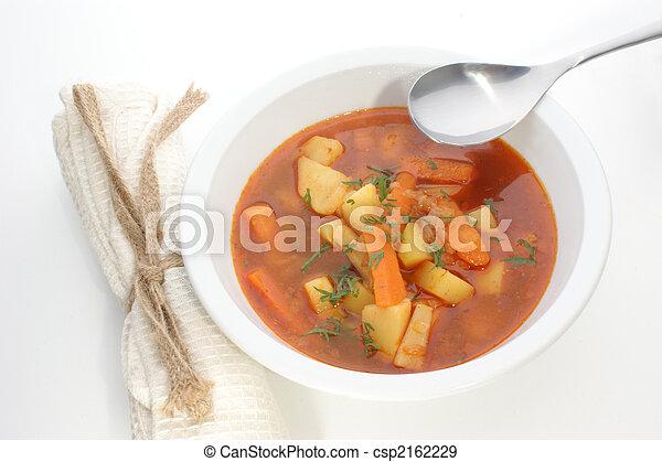 potato soup in a white bowl  - csp2162229