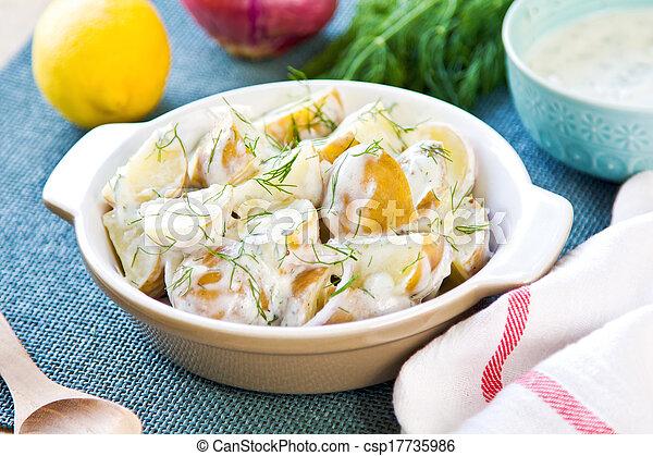 Potato with sour cream dressing salad - csp17735986