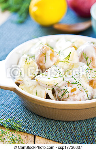 Potato with sour cream dressing salad - csp17736887