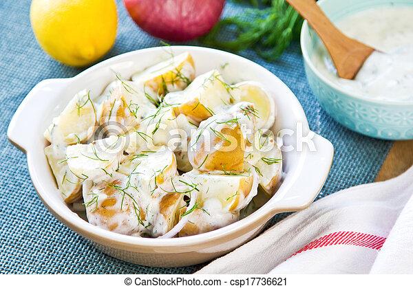 Potato with sour cream dressing salad - csp17736621