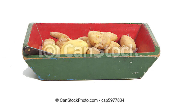 Potatoes in a box - csp5977834