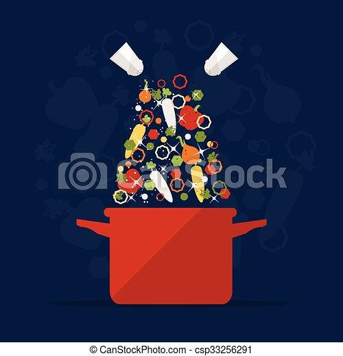 pote, cozinhar - csp33256291