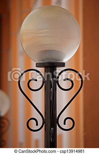 poteau lampe - csp13914981