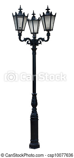 poteau lampe - csp10077636
