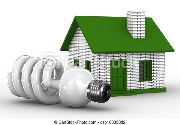 Energía de la casa. Imagen 3D aislada - csp10033882