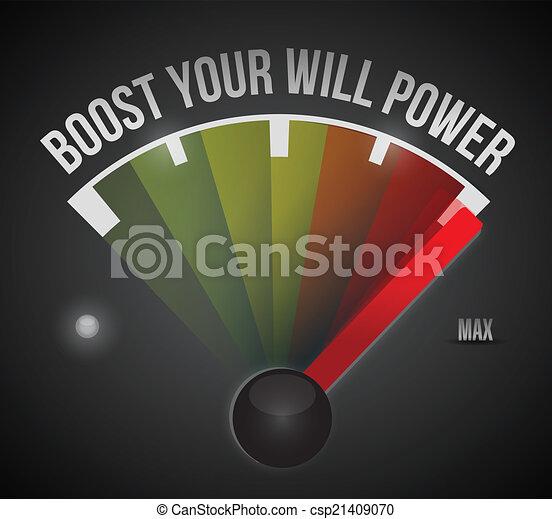 potere, max, illustrazione, volontà, spinta, tuo - csp21409070