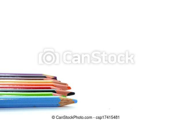 potlood, kleurrijke - csp17415481