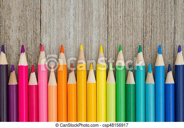 potlood, opleiding, kleurpotlood, kleurrijke, achtergrond - csp48156917
