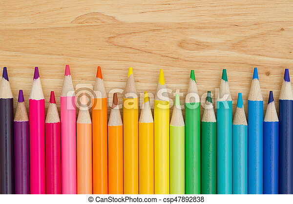 potlood, opleiding, kleurpotlood, kleurrijke, achtergrond - csp47892838
