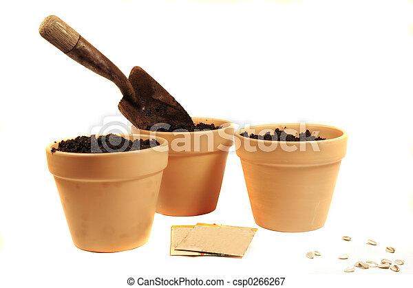 potten, cotta, terra - csp0266267