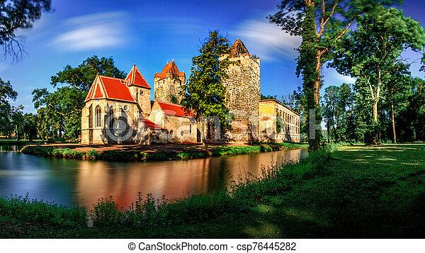 Pottendorf Castle in Austria - csp76445282
