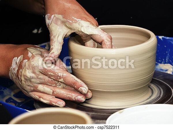 pottery handmade - csp7522311
