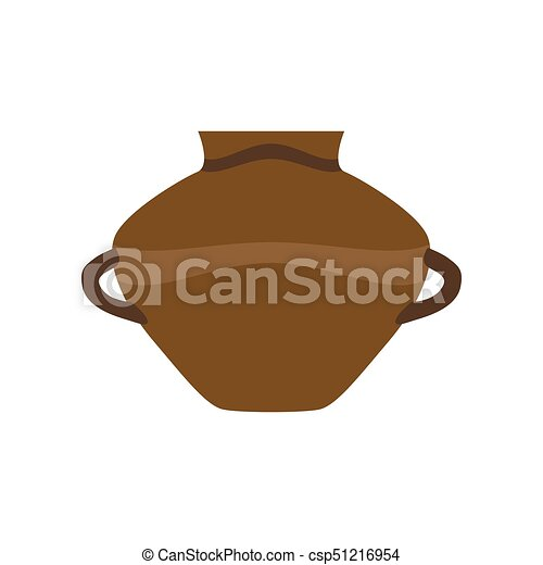 Pottery Pot Clay Vector Vase Illustration Cartoon Ceramic Jar