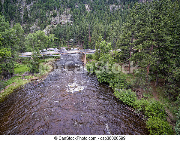 Poudre River aerial view - csp38020599