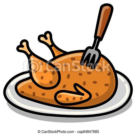 poulet, cuit - csp64847685