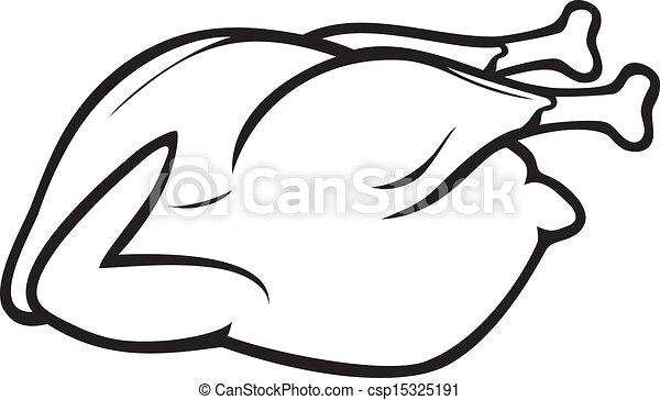 poulet, entier, rôti - csp15325191