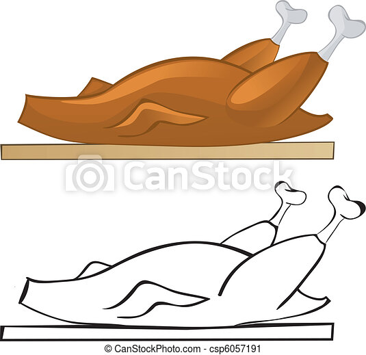 poulet, frit - csp6057191