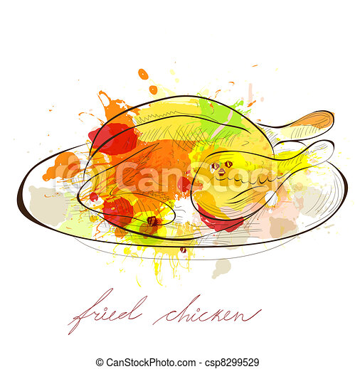 poulet, frit - csp8299529