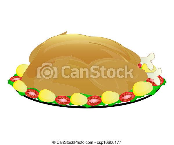 poulet frit - csp16606177