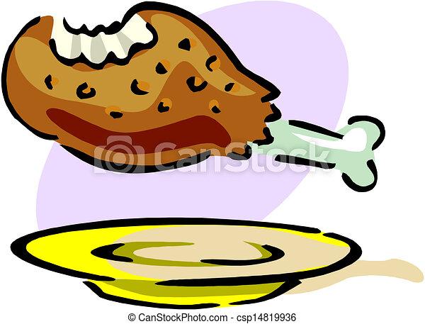 poulet frit - csp14819936