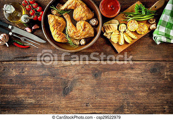 poulet grillé, jambes - csp29522979