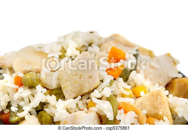 poulet, riz - csp5375861