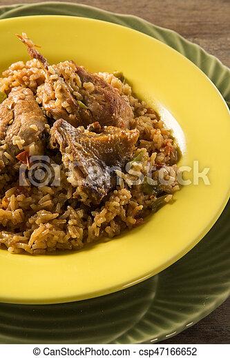 poulet, riz - csp47166652
