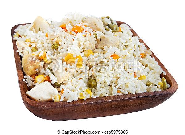 poulet, riz - csp5375865